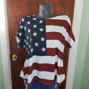 Tops - American Flag Tee, Size 3X